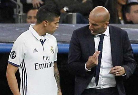 La estrategia que usó Zidane para borrar a James del Real Madrid