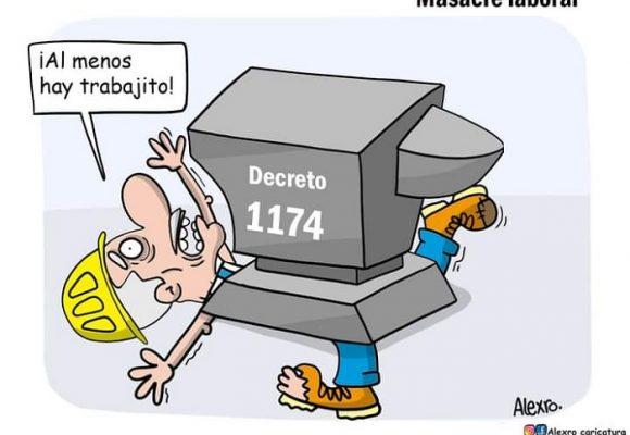 Caricatura: Masacre laboral