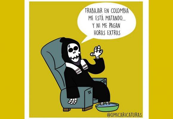 Caricatura: ¿El agosto de la muerte en Colombia?