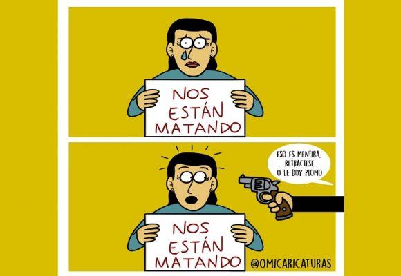 Caricatura: Nos están matando