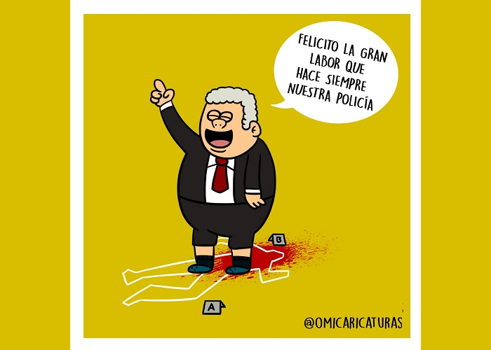 Caricatura: Presidente, ¿y la transformación de la Policía Nacional?