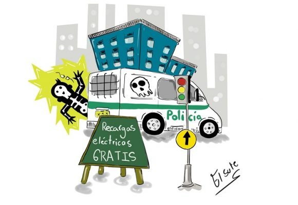 Caricatura: Recargas eléctricas