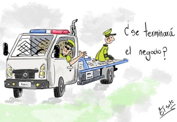 Caricatura: ¿Llegó el fin de la Policía de Tránsito?