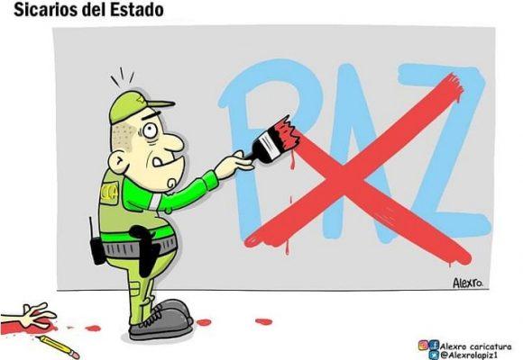 Caricatura: Sicarios del Estado