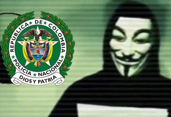 Anonymous habría hackeado la página de la Policía de Colombia