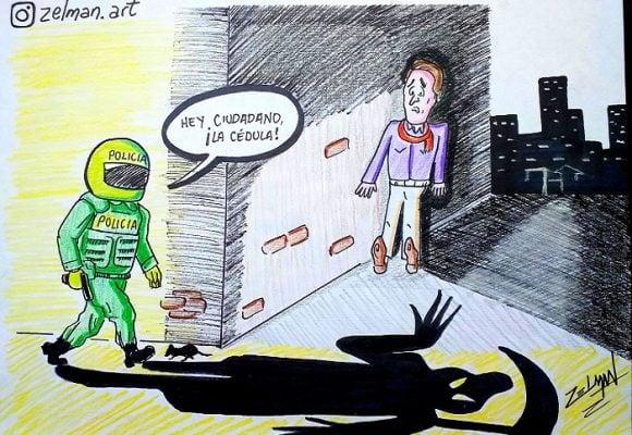 Caricatura: Temor ciudadano