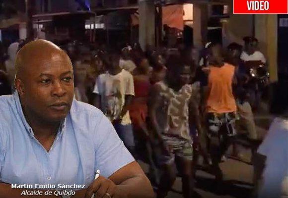 El alcalde de Quibdó al que la gente no le hace caso: rumba sin control