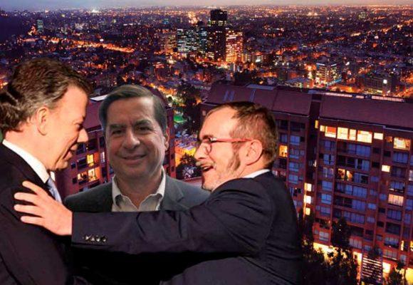 En este conjunto de Usaquen se reunió Santos con Timochenko