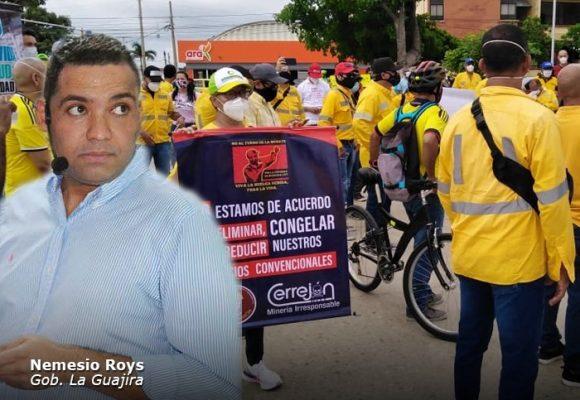 El Gobernador de La Guajira se le escondió a los líos del Cerrejón