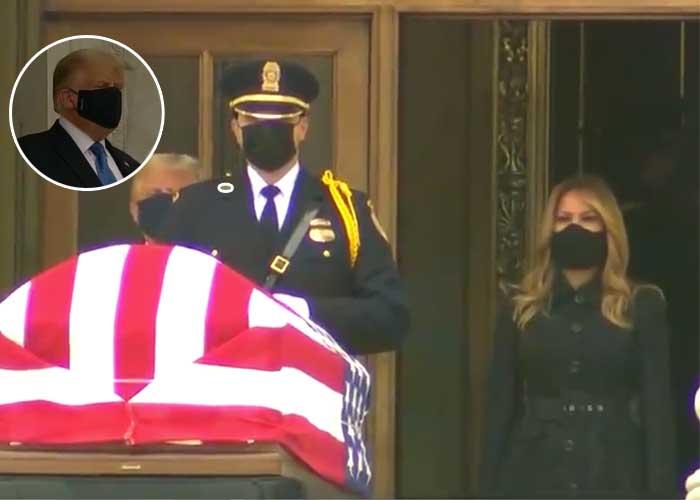 Fuerte abucheo a Donald Trump en su visita a los restos de jueza Ginsburg