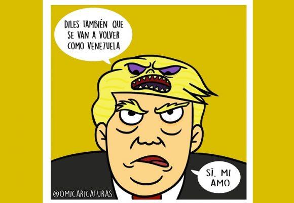 Caricatura: El amo de Trump