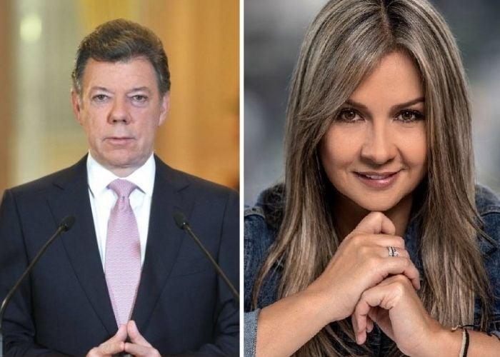 Vicky Dávila pone en su sitio a Juan Manuel Santos
