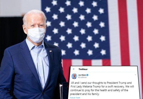 Noble mensaje de Biden por recuperación de Trump y Melania