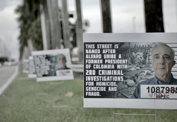 Furiosos antiuribistas en Miami se hicieron oir