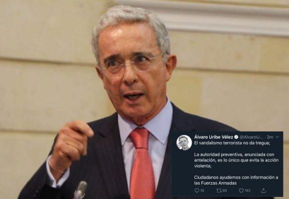 Uribe Vélez pide a ciudadanos colaborar con Fuerzas Armadas en Paro Nacional