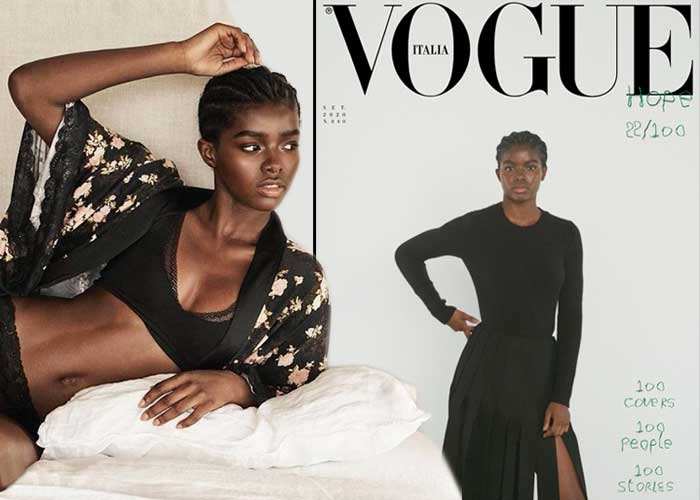 La bella negra colombiana que conquistó Vogue Italia