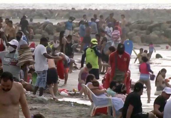 ¿Cuál Coronavirus? las playas de Puerto Colombia abarrotadas durante el puente