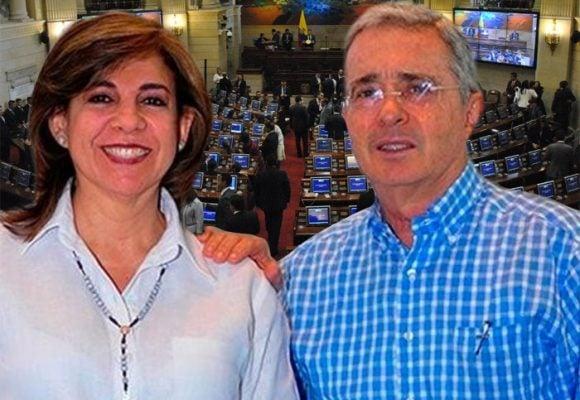 Primer mandado de la senadora reemplazo de Uribe en el Congreso: referendo contra la JEP