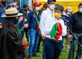 La alcaldesa de Bogotá supervisó el lugar donde se instalará la Minga