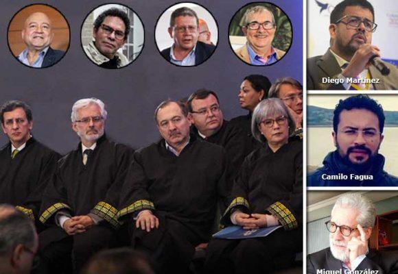 Los tres abogados que lideran la defensa Farc en la JEP