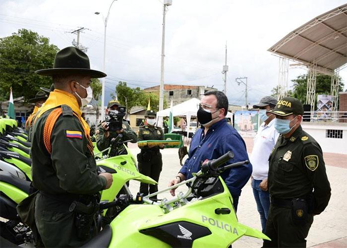 Nuevas motocicletas para la Policía del Atlántico