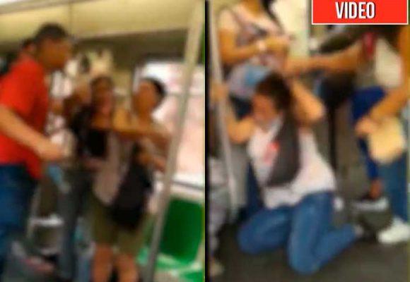 ¡Ahí quedó el civismo paisa! batalla campal en el Metro de Medellin