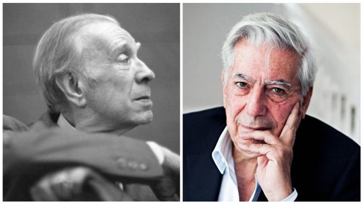 Mario Vargas Llosa y Jorge Luis Borges