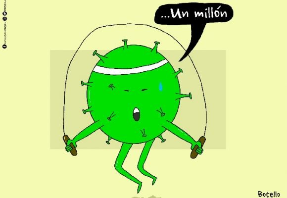 Caricatura: Un millón de contagiados