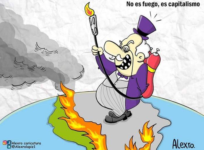 Caricatura: No es fuego, es capitalismo