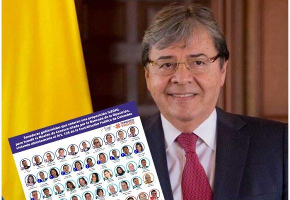 Los 58 congresistas que están felices con el Ministro de Defensa