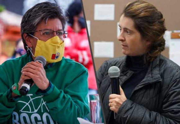La rabia de Paloma Valencia con Claudia López por dejar entrar indígenas a Bogotá