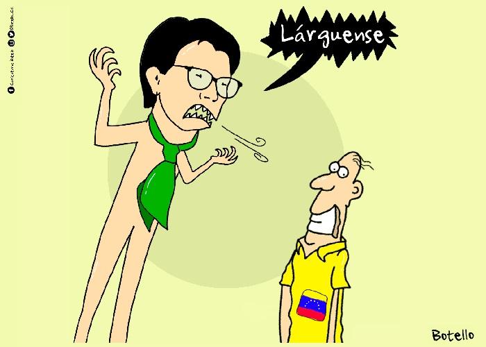 Caricatura: Alcaldesa, eso es xenofobia