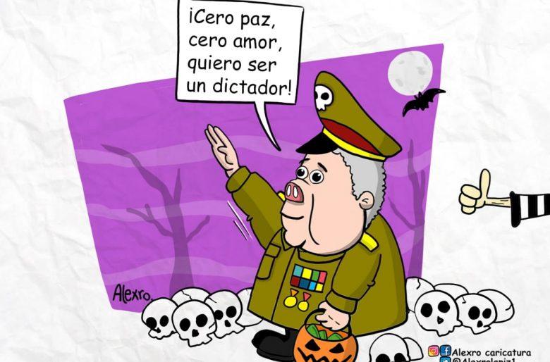 Caricatura: El disfraz del presidente