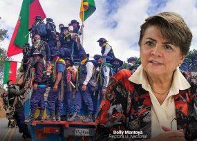 Dolly Montoya le cierra la puerta de la Nacional a la Minga