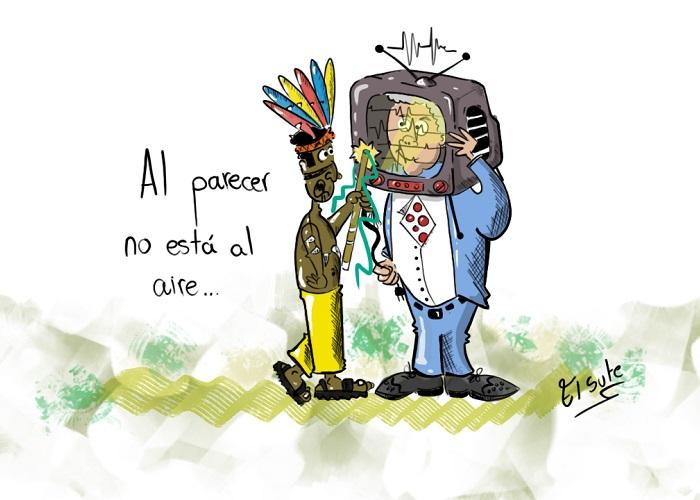 Caricatura: Duque, sin señal