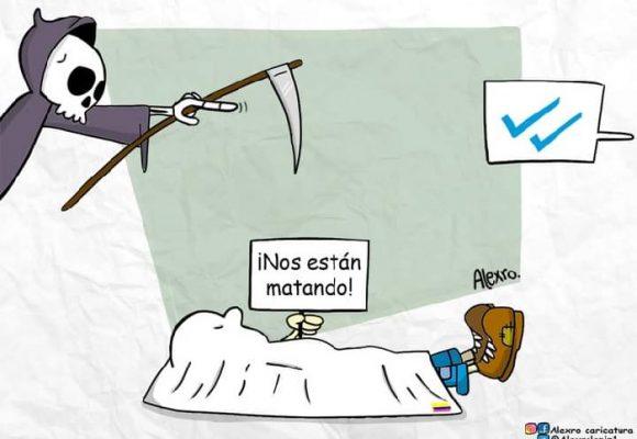 Caricatura: Acostumbrados al horror...