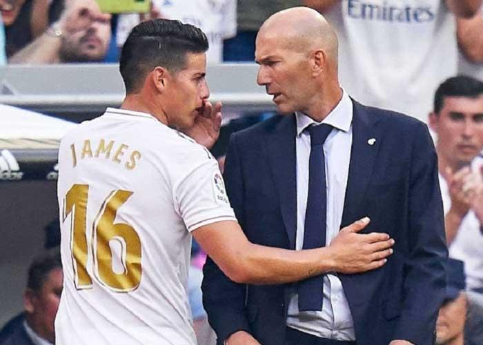 Los troncos por los que Zidane despreció a James