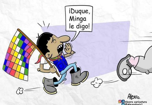 Caricatura: ¡Duque, minga le digo!