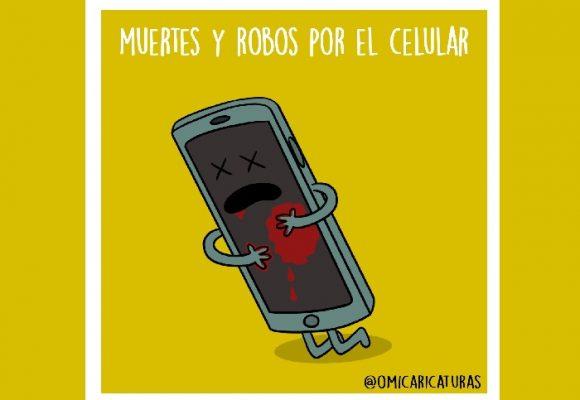 Caricatura: ¿Hasta cuándo nos seguirán asesinando por robarnos el celular?