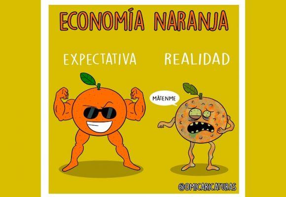 Caricatura: Economía naranja, expectativa versus realidad