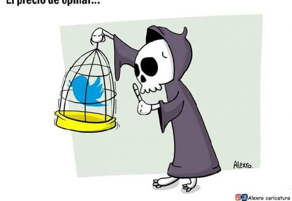 Caricatura: El precio de opinar