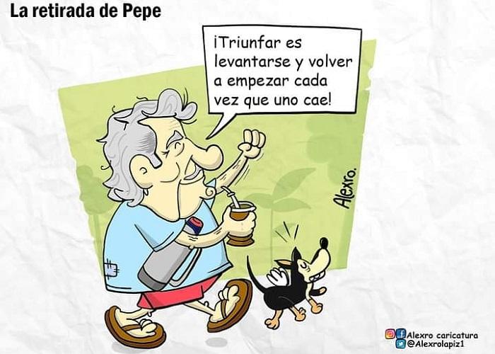 Caricatura: La retirada de Pepe Mujica
