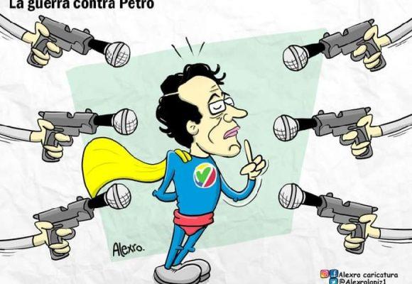 Caricatura: La guerra contra Petro