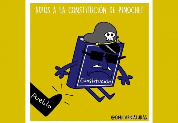 Caricatura: ¡Adiós a la constitución de Pinochet!