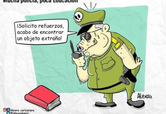 Caricatura: Mucha policía, poca educación