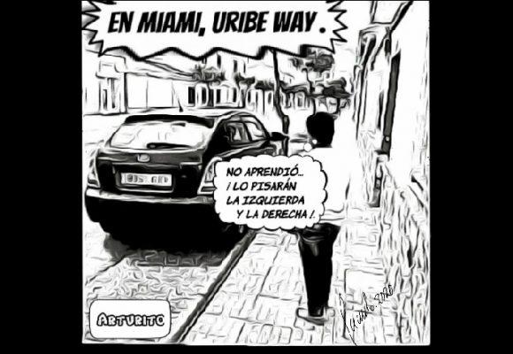 Caricatura: Expresidente Uribe, no es tan buena idea tener una calle con su nombre