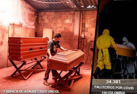 Una fábrica de ataúdes en tiempos de pandemia