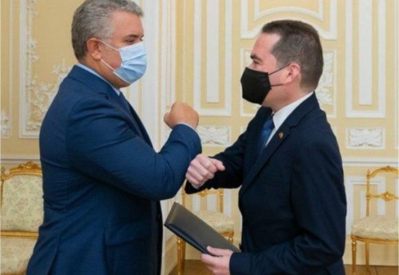 Con honores militares Duque recibe al nuevo embajador de Guaidó en Colombia