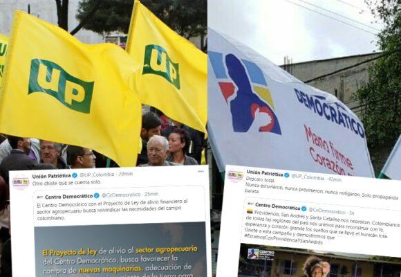Dardazos de la UP al Centro Democrático por Twitter