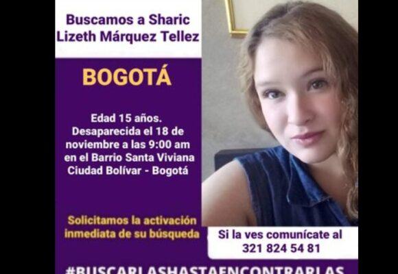 Alerta en Bogotá por desaparición de menor de 15 años